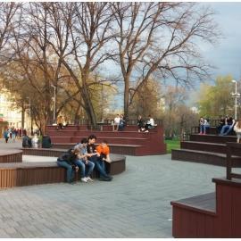 Ильинский сквер в Москве (Китай-город)