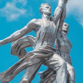 Скульптура «Рабочий и колхозница». Автор памятника: Вера Мухина