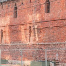 Фрагмент Китайгородской стены вдоль парка «Зарядье»